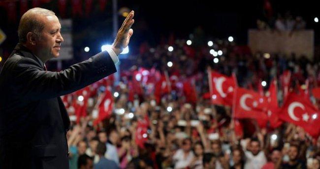 Londra'da Suriyelilerden Türkiye'ye destek