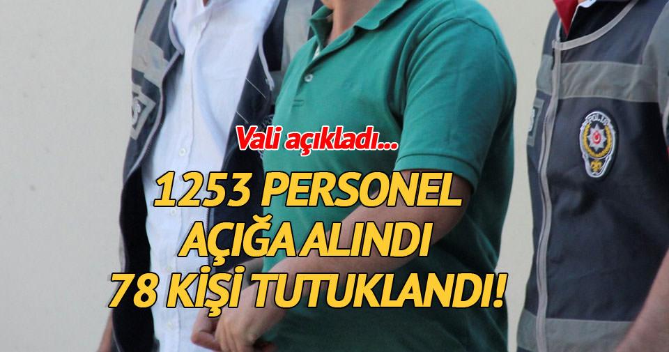 Antalya'da 1253 kamu görevlisi açığa alındı 78 kişi tutuklandı
