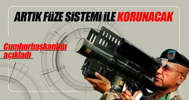 Külliye, Başbakanlık ve TBMM füze sistemi ile korunacak