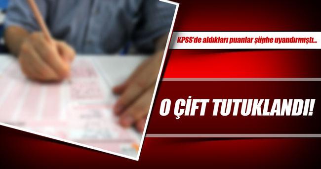 KPSS'den 95-97 puan alan karı-koca tutuklandı