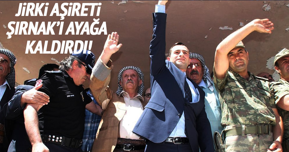 Jirki Aşireti Şırnak'ı Türk bayraklarıyla donattı!