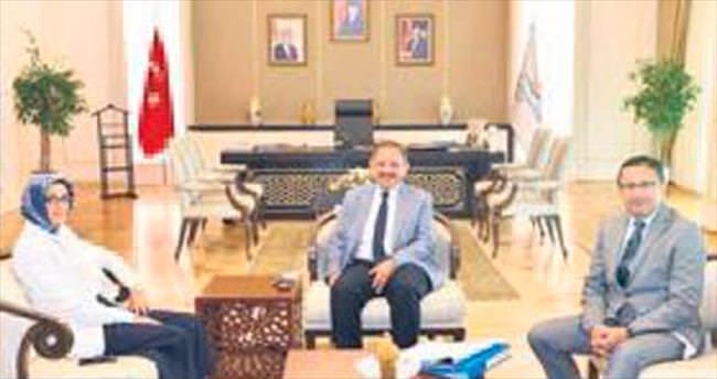 Başkan Tiryaki'den Bakan Özhaseki'ye ziyaret