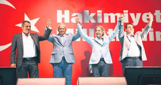 Başkanlar Taksim'de buluştu