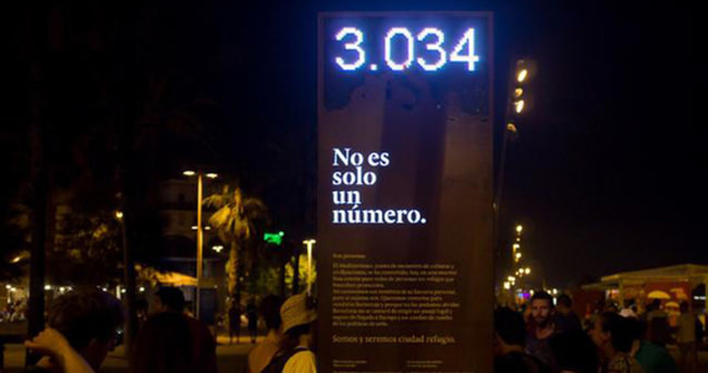 Barcelona'dan utanç panosu