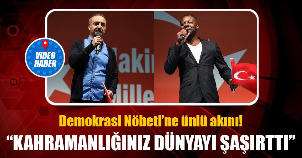 Yılmaz Erdoğan ve Nouma demokrasi nöbetinde