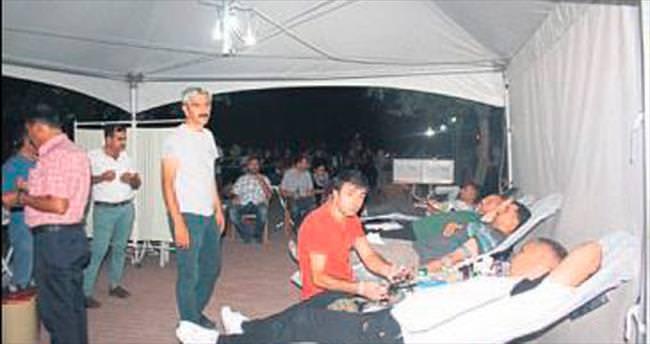 Nöbette kan bağışı yaptılar
