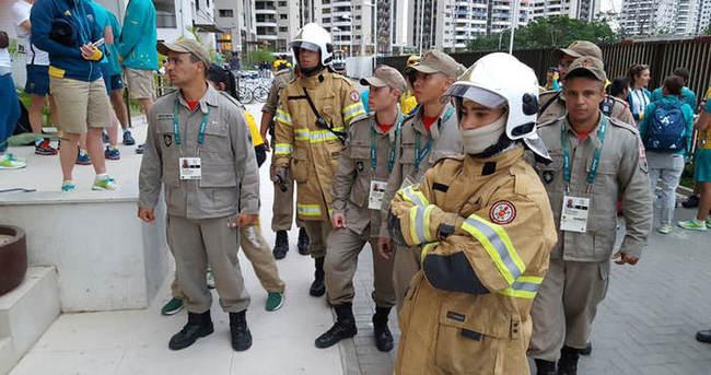 Olimpiyat köyünde yangın paniği