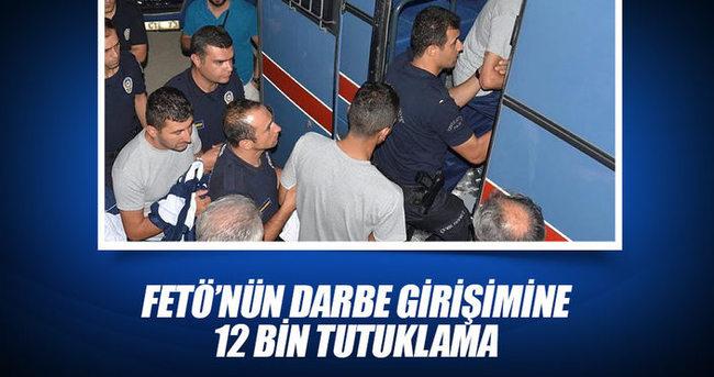 FETÖ'nün darbe girişimine 12 bin 96 tutuklama