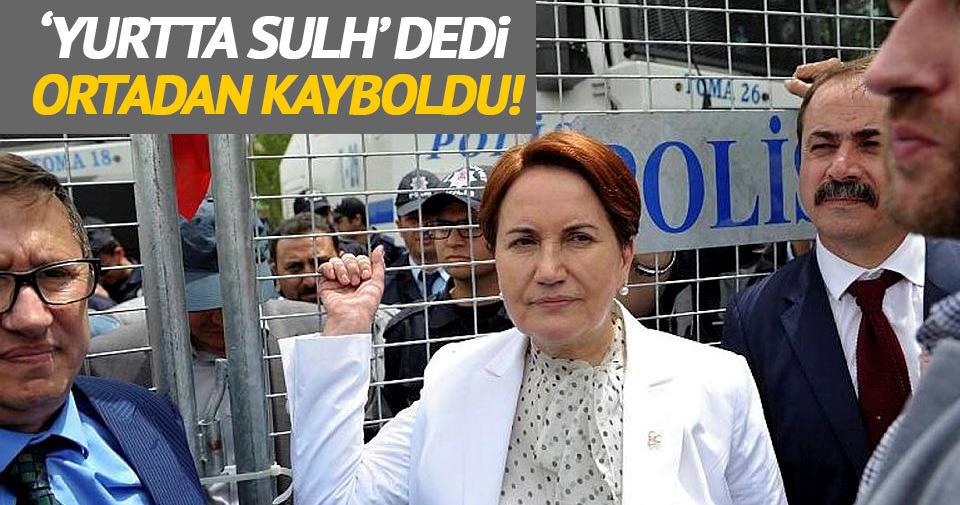 Meral Akşener 'Yurtta Sulh' dedi ortadan kayboldu!