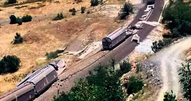 Trene saldırdılar