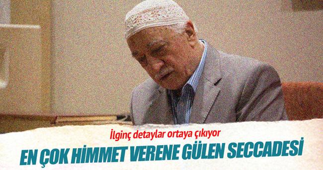 En çok himmet verene Gülen seccadesi