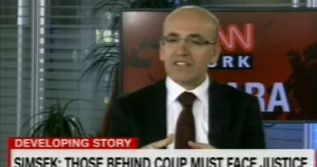 Mehmet Şimşek canlı yayında CNN sunucusunu bozdu