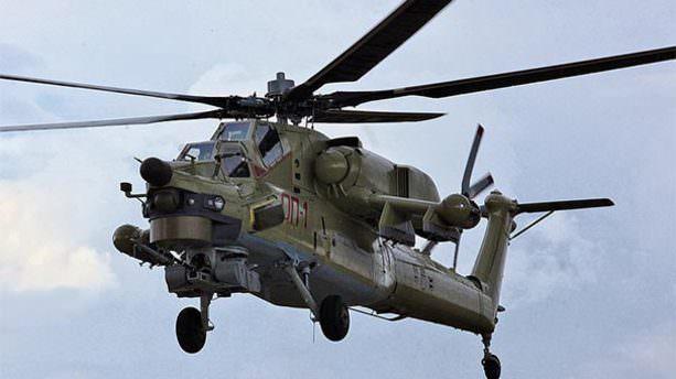 Halep'te Rus helikopteri düşürüldü