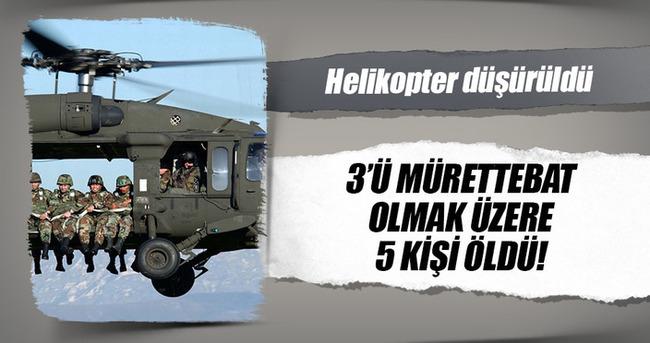 Rus helikopteri düşürüldü, 5 ölü