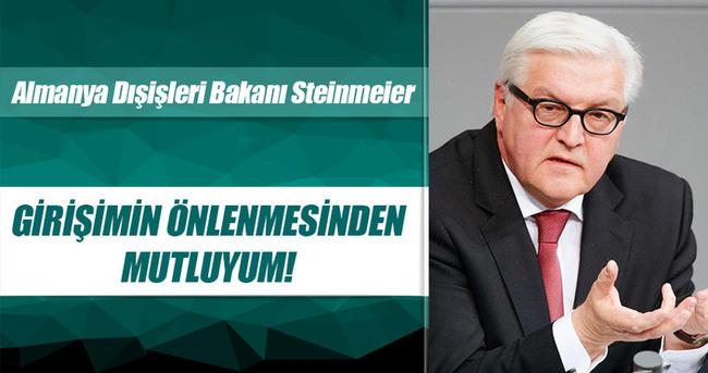 Steinmeier: Girişimin önlenmesinden mutluyum