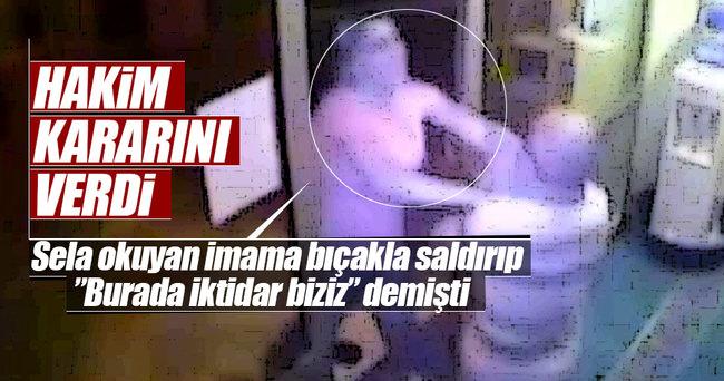 İmama bıçakla saldıran kişi tutuklandı