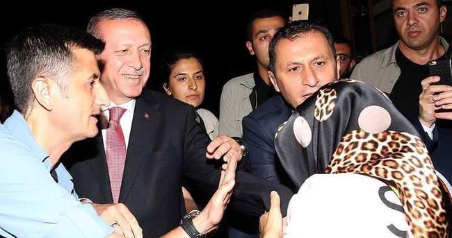 Erdoğan, vatandaşlarla bir araya geldi