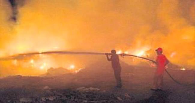 Sera atıklarından yangın çıktı
