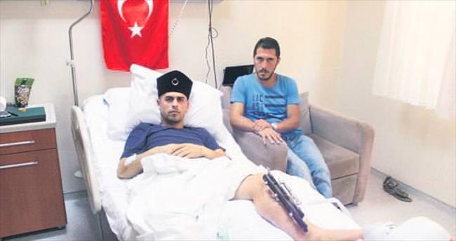 Sırtında yaralı taşıyan sivili bile vurdular