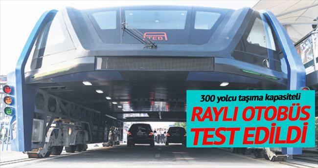 'Raylı otobüs' test edildi