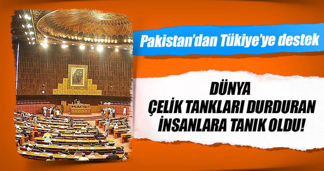 Pakistan Parlamentosu'ndan Türkiye destek