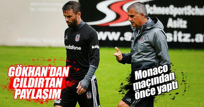 Gökhan Gönül, Monaco-Fenerbahçe maçından önce bunu yaptı!