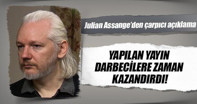 Julian Assange: Erdoğan'a yönelik yapılan yalan haber darbecilere vakit kazandırdı