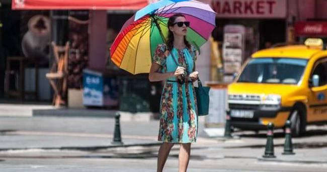 Aşırı sıcak havalarda şemsiyenizi almayı unutmayın