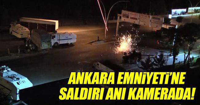 Ankara Emniyeti'ne saldırı anı polis kamerasında!