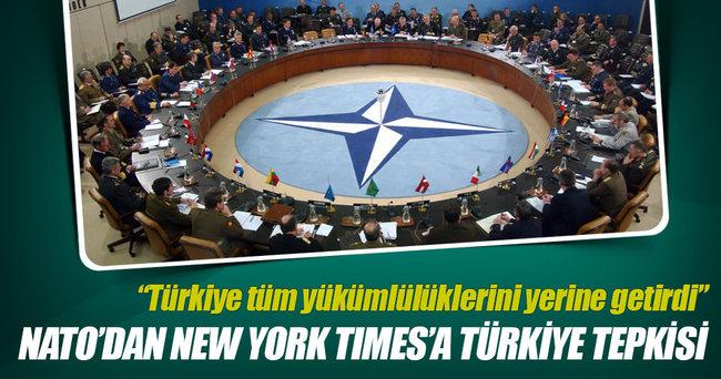 NATO'dan New York Times'a Türkiye tepkisi
