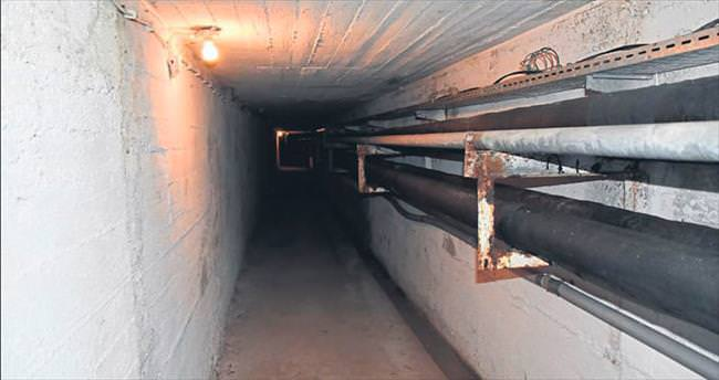 Okulun altında 300 metre tünel