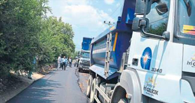 Finike Yeşilyurt'un asfaltı yenileniyor