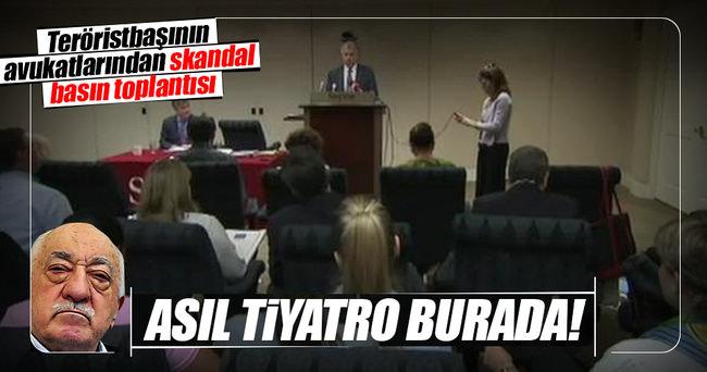 Teröristbaşının avukatlarından skandal basın toplantısı