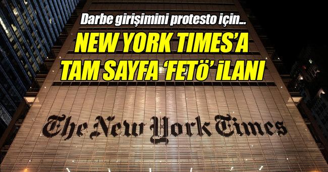 New York Times'a tam sayfa FETÖ ilanı!