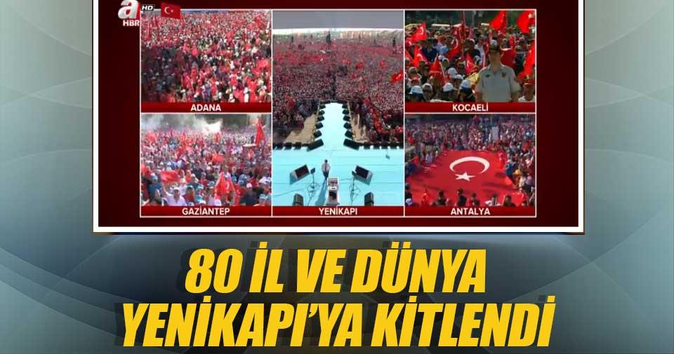 80 il Yenikapı'ya kitlendi