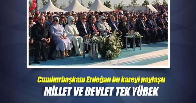 Erdoğan'dan protokol fotoğrafı