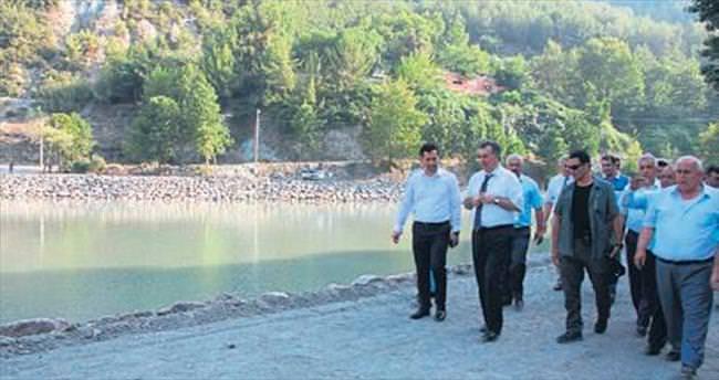 Osmaniye Valisi Al sulama göletinde