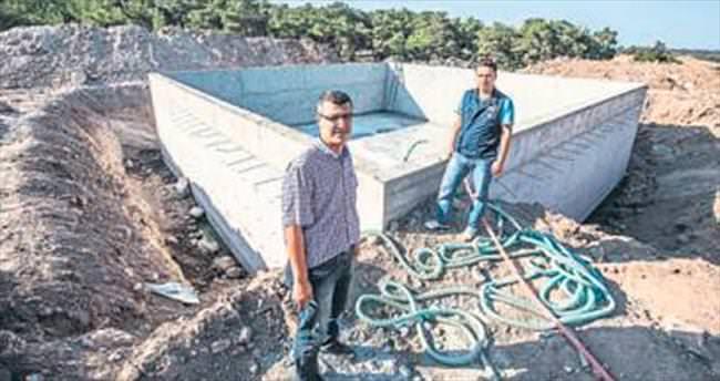 Menemen'e yangın havuzu kuruluyor