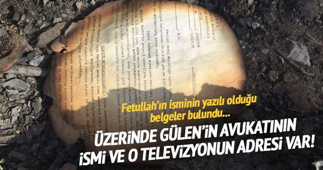 Gölbaşında üzerinde Gülen'in ismi yazılan evraklar bulundu