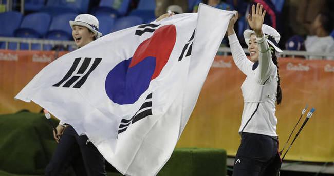 Okçuluk kadınlarda altın Güney Kore'nin
