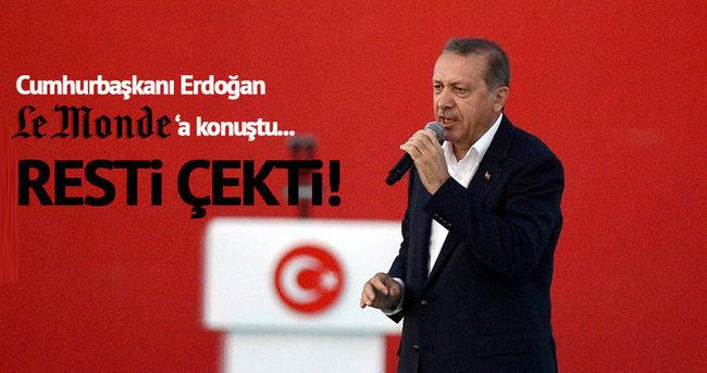 Erdoğan Le Monde'a konuştu