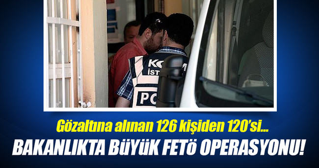 Adalet Bakanlığı'nda büyük FETÖ operasyonu!