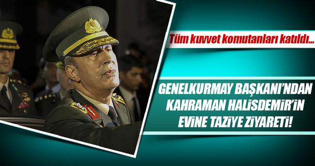 Genelkurmay Başkanı Akar'dan, kahraman Astsubay Halisdemir'in evine ziyaret!