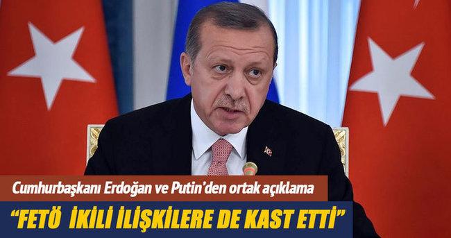 Cumhurbaşkanı Erdoğan: FETÖ ikili ilişkilere de kast etti