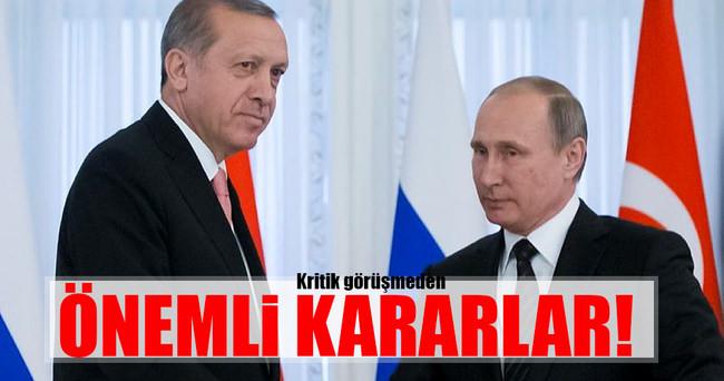 Erdoğan ile Putin arasında kritik görüşme bitti