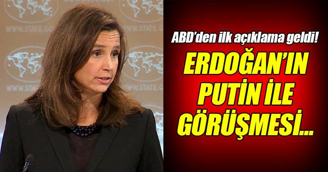 Erdoğan'ın Rusya ziyeretine ABD'den ilk yorum!