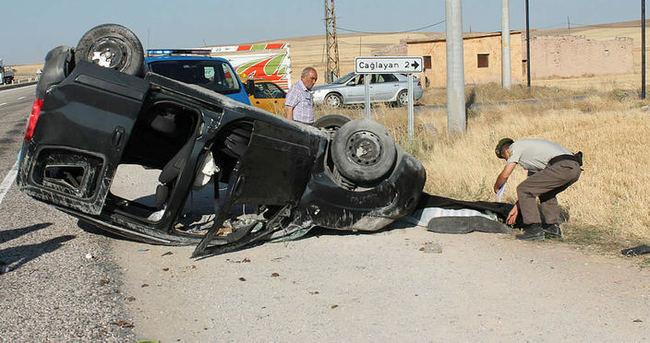 Aksaray'da kamyonet devrildi: 1 ölü, 6 yaralı