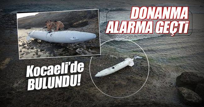 Sahile vurdu: Donanma alarma geçti