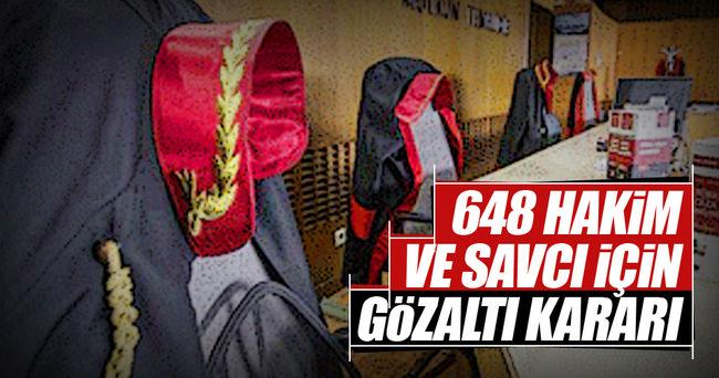 648 yargı mensubuna gözaltı