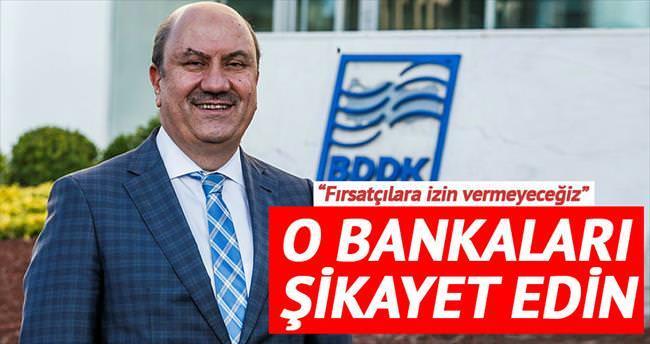 O bankaları şikâyet edin